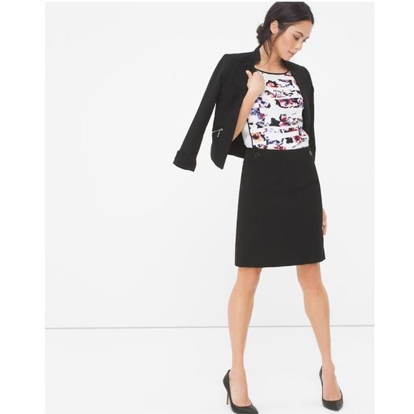 White House Black Market Dresses & Skirts - White House Black Market Ponte Detail Pencil Skirt